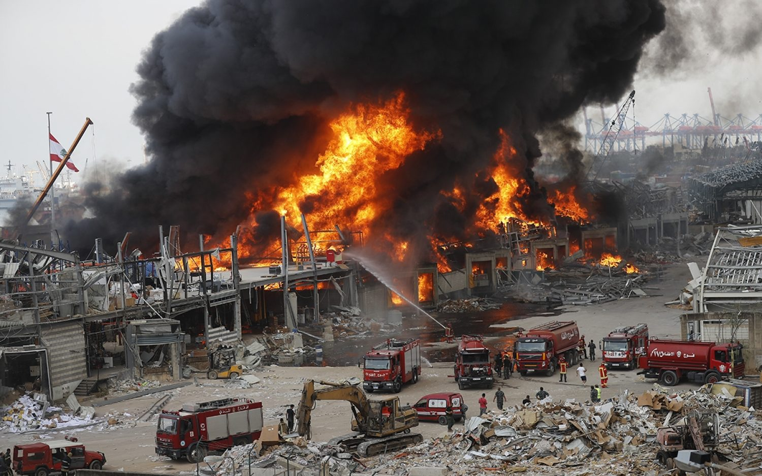 Fire breaks out at Beirut port