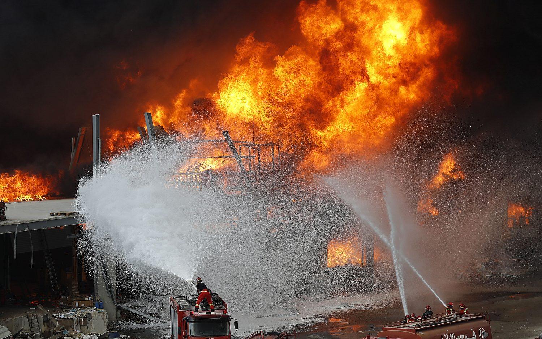 Beirut ablaze again