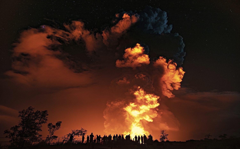 Kilauea volcano erupts in Hawaii
