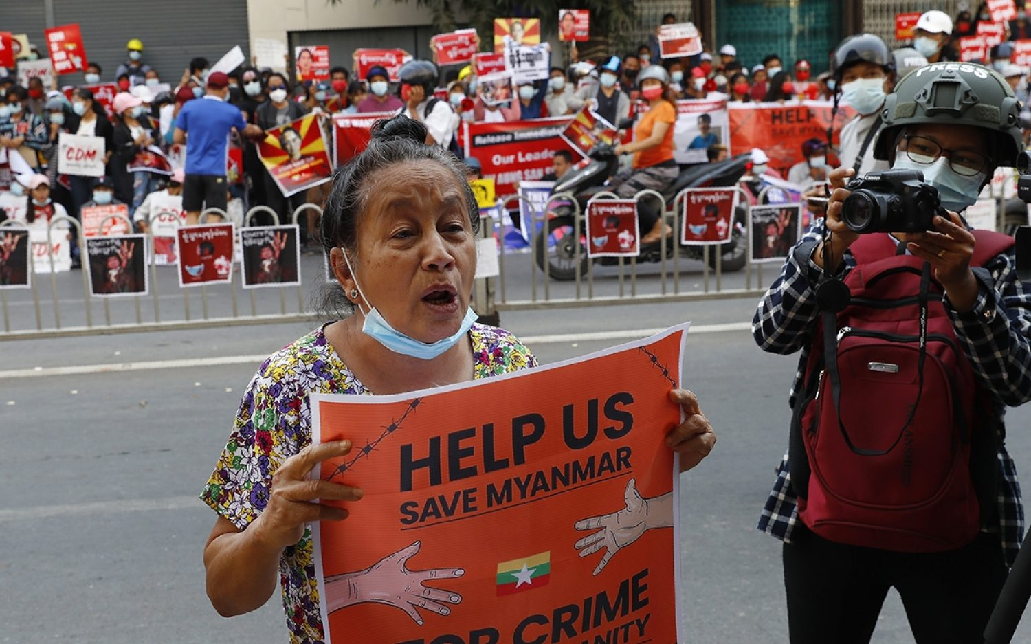 Protests continue across Myanmar
