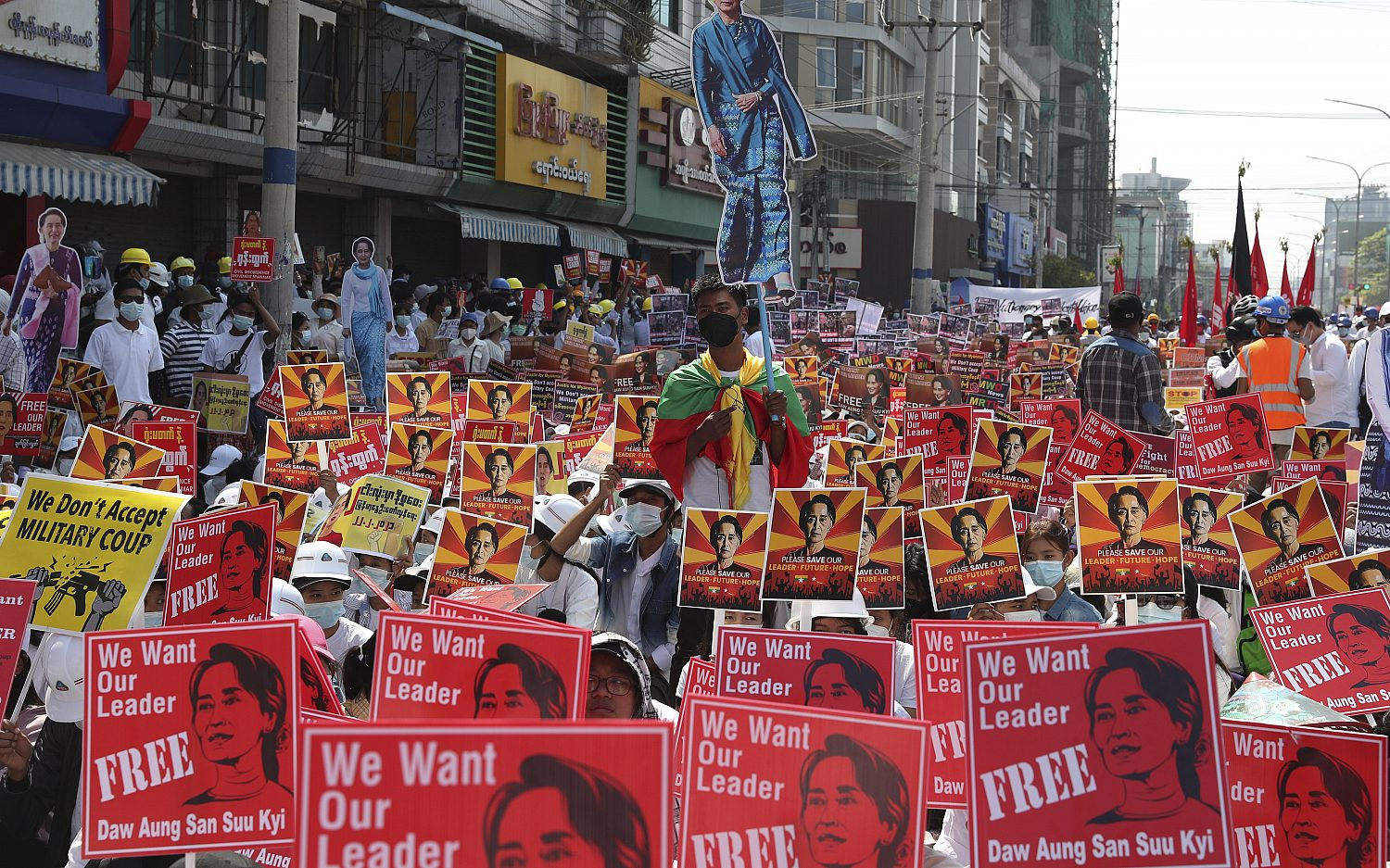 Myanmar protests continue as military firms up response
