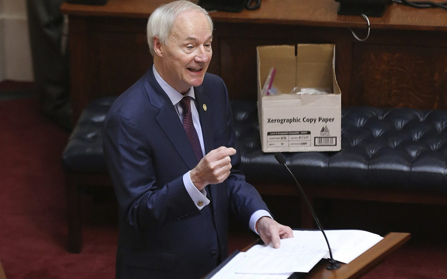 Arkansas governor vetoes protections for minors