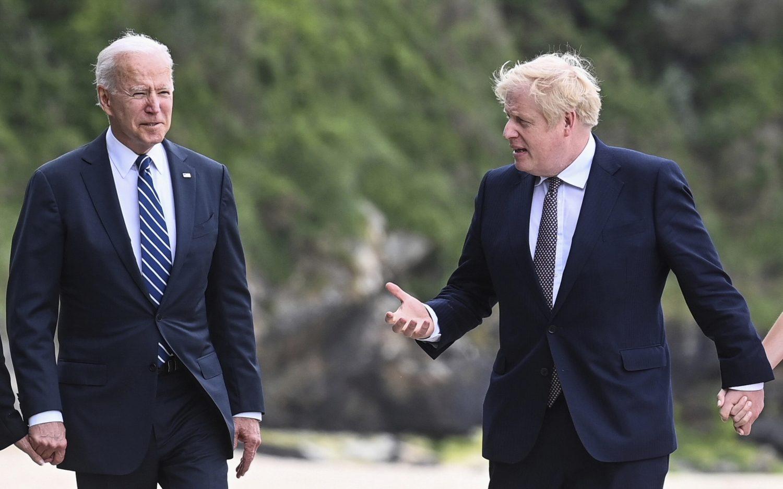 Biden meets with Boris Johnson