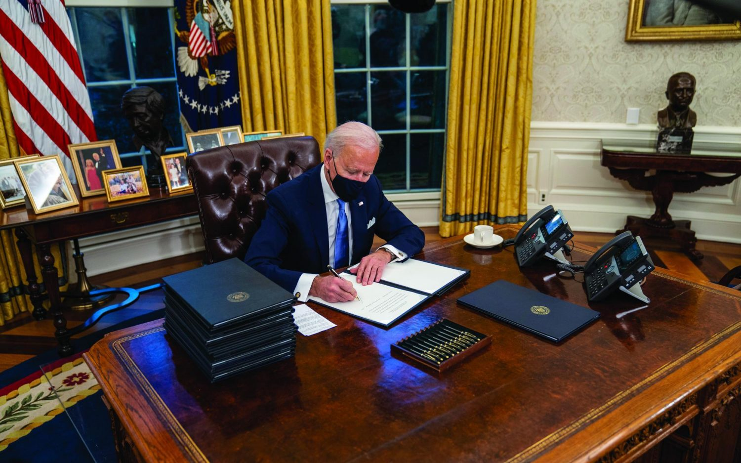 Dismantling Trump policy with the stroke of a pen