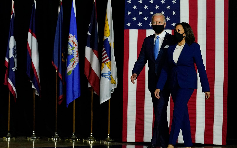 Biden, Harris hold first joint event