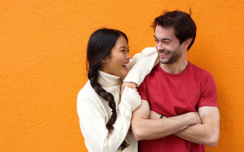 When Asian girl meets white boy