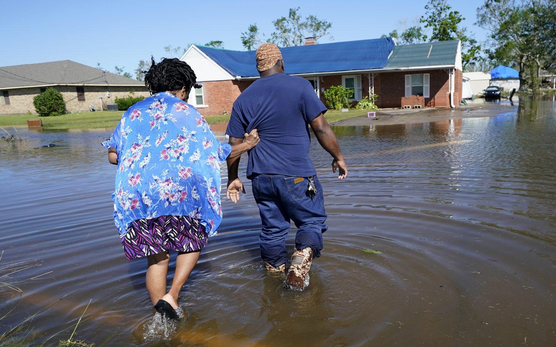 Hurricane Delta swamps weary Louisiana