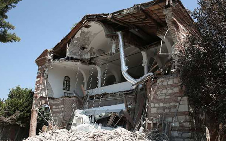 Historic church in Turkey demolished