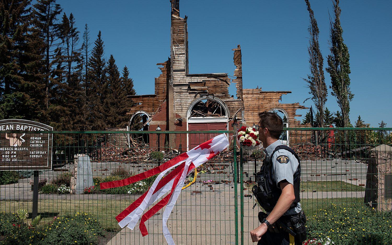 Canadian Christians tally burning churches