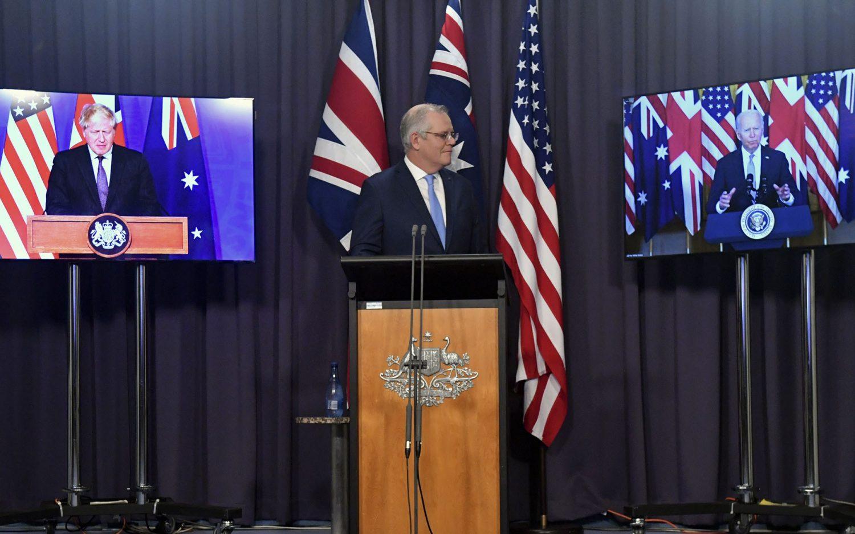 U.S. unveils security alliance with U.K., Australia