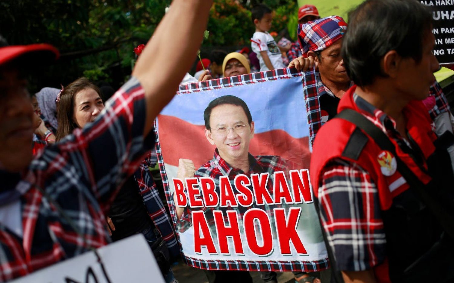 Jakarta's Christian governor given two-year sentence