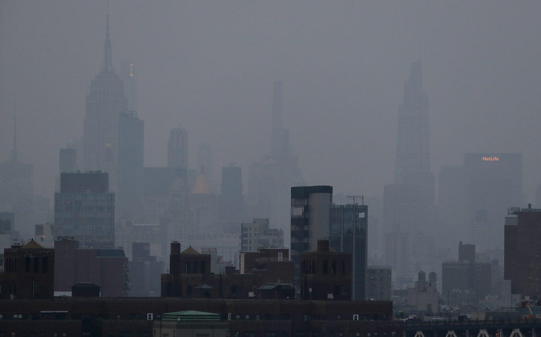 Western wildfires cause hazy skies in NYC