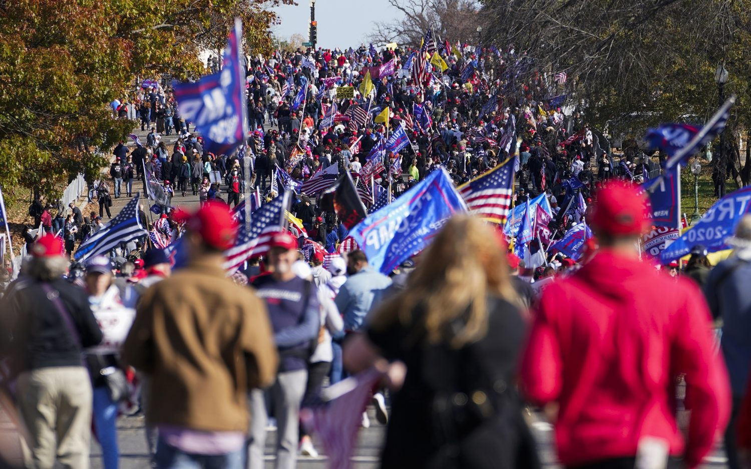 Trump supporters rally in Washington