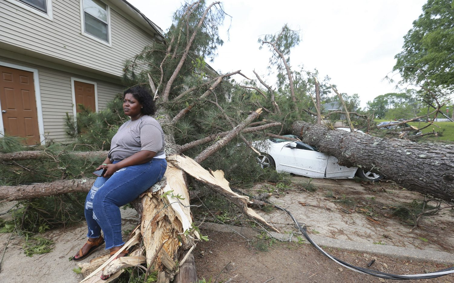 Severe storms hit the South