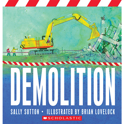 A noisy book, sure to delight little people who love trucks and destruction. Its pages are filled with wrecking balls and bulldozers, short and punchy sentences, and vivid action words.