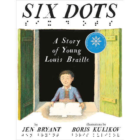 Jen Bryant explores the early life of Louis Braille. The storyline traces how Braille's remarkable resilience and creative thinking led to the invention of the Braille system.