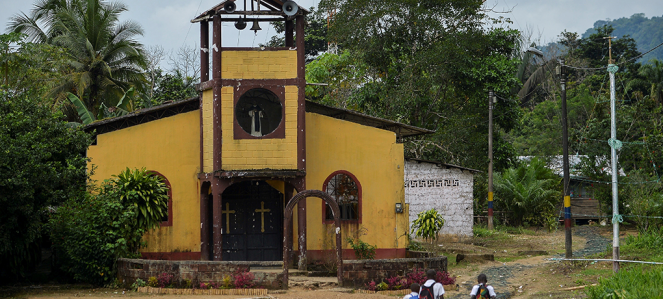 A church in western Colombia.