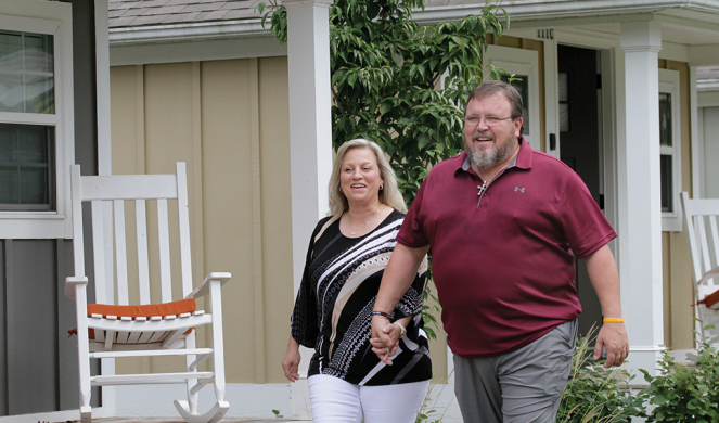 Deanna and Jason Smith reminisce about their time in the Opportunity Village.