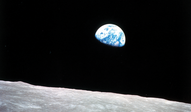 Earthrise as captured from Apollo 8