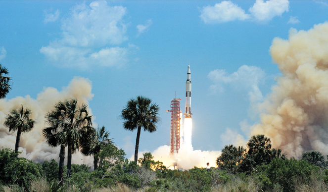 Apollo 16 is launched at Kennedy Space Center