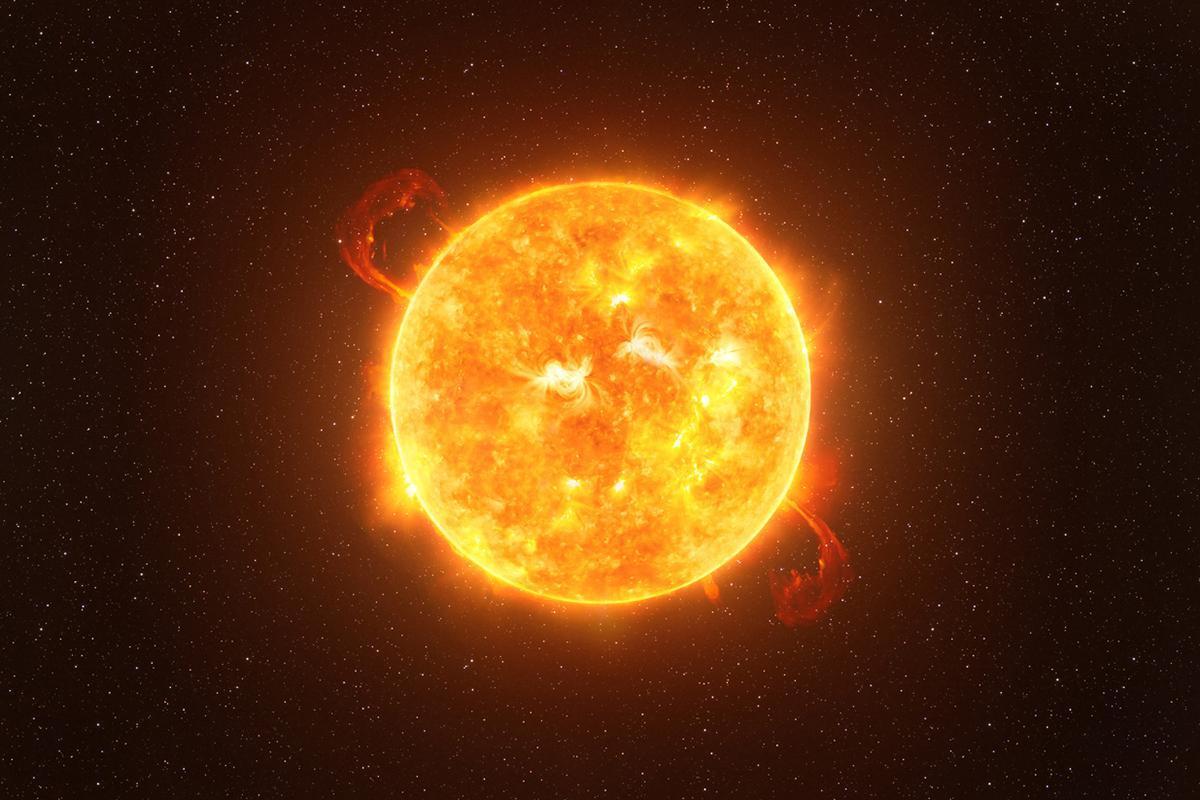 An illustration of Betelgeuse