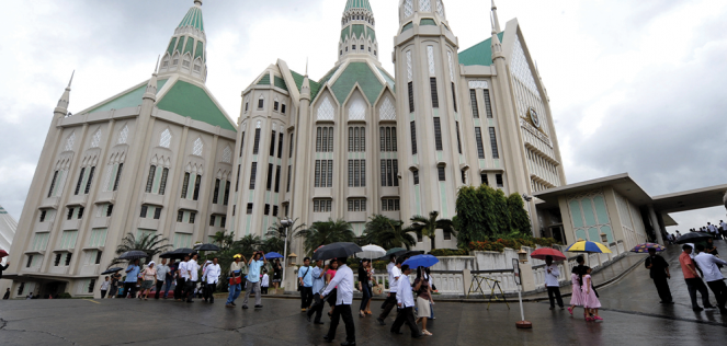 The 7,000-seat Central Temple in Quezon City, Philippines.