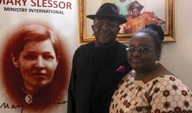 James Bassey and his wife.