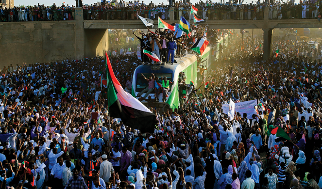 Sudanese gather Dec. 19 to celebrate the first anniversary of the uprising that swept the nation and later toppled president Omar al-Bashir, who had been in power for three decades.