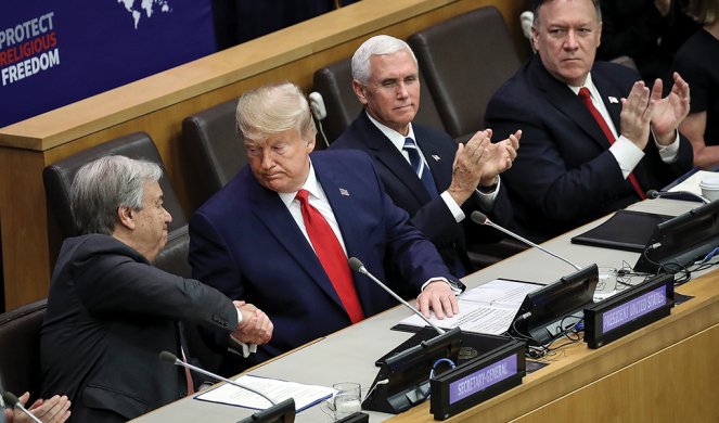 Trump speaks at an event on religious freedom during the United Nations General Assembly
