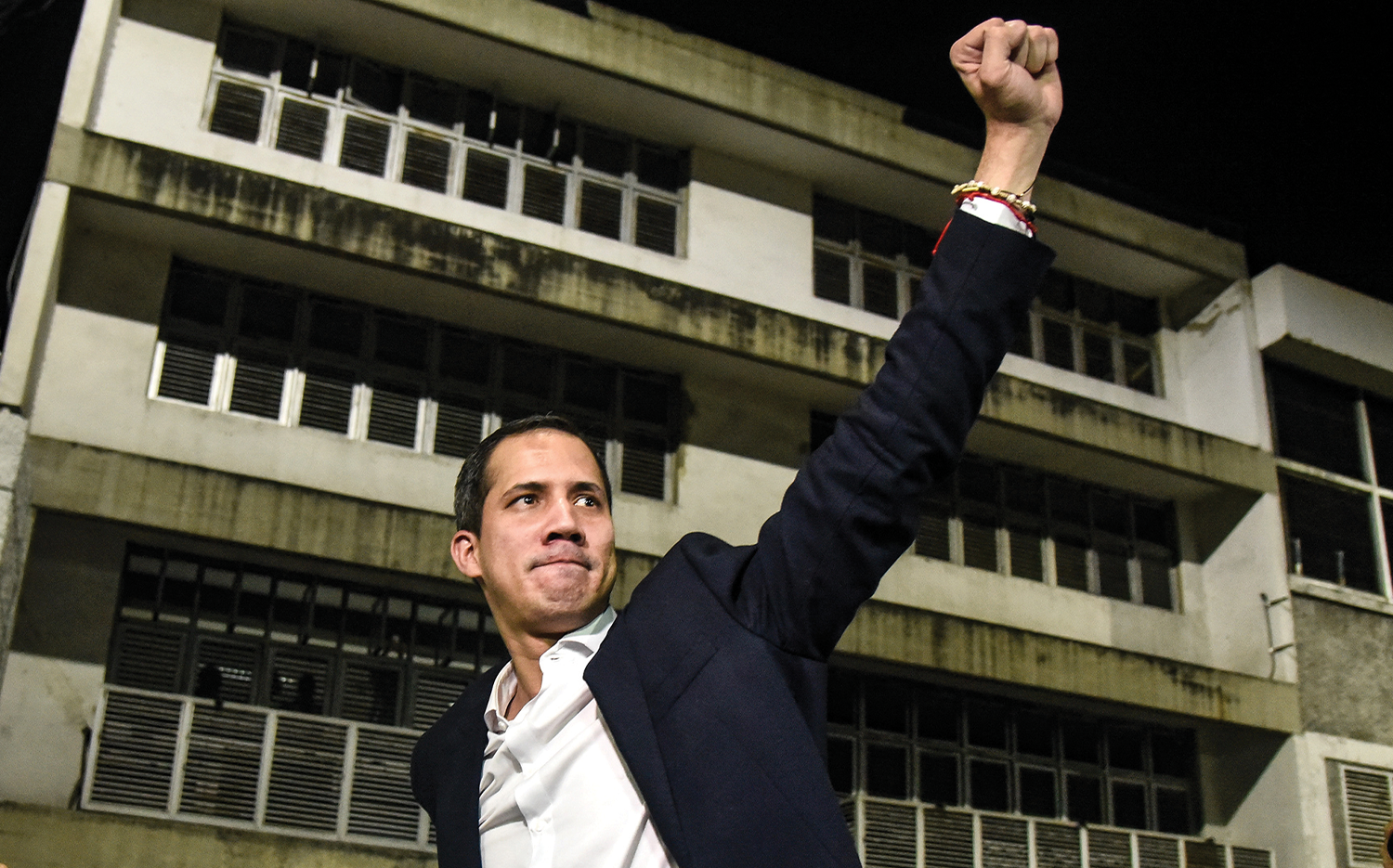"""""""THIS IS ABOUT POWER AND FORCE"""": Juan Guaidó addresses a crowd after a speech in Bolívar Square."""