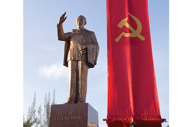 A statue of Ho Chi Minh