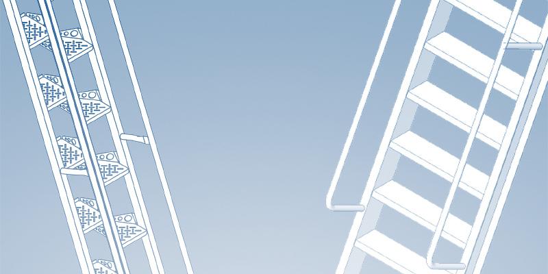 Alternating Tread Stairs vs Ship Stairs