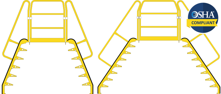 alternating tread crossover stairs