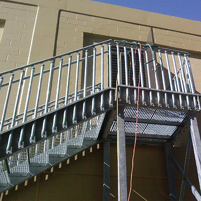 steel bolted stairs