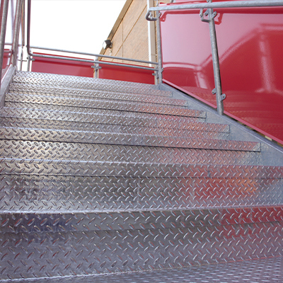 IBC-compliant steel bolted access stairs
