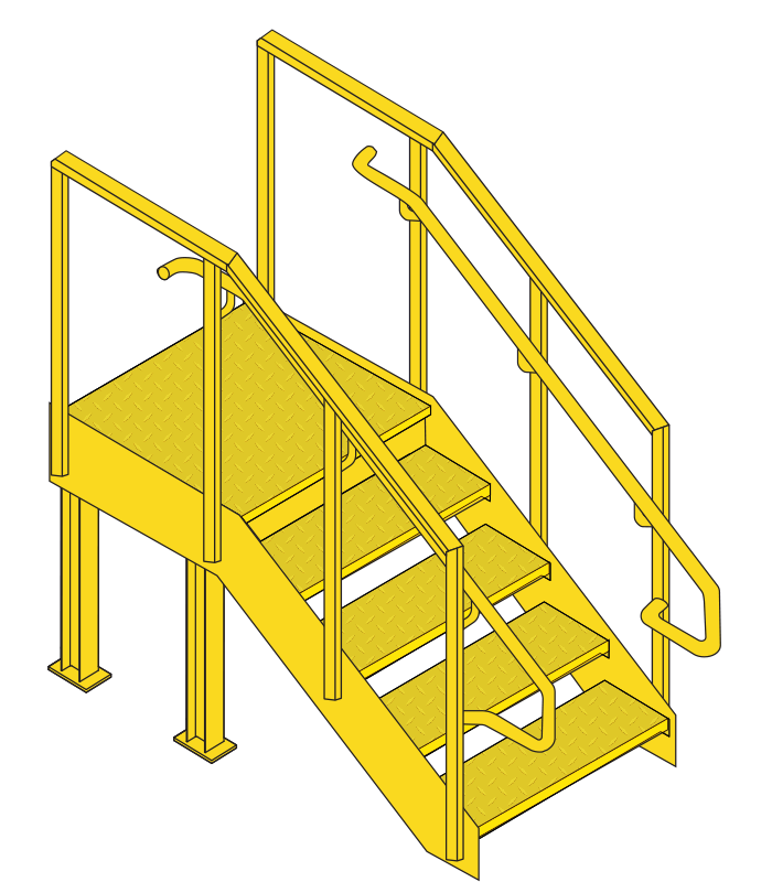 Loading dock stairs