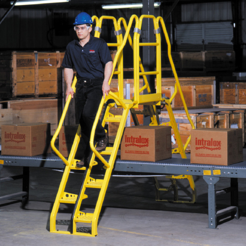 Crossover ladders and platforms