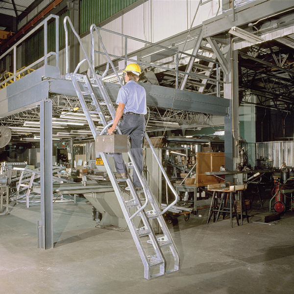 mezzanine alternating tread stair