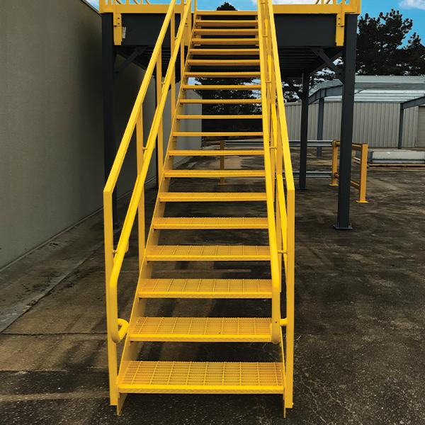 steel mezzanine stairs