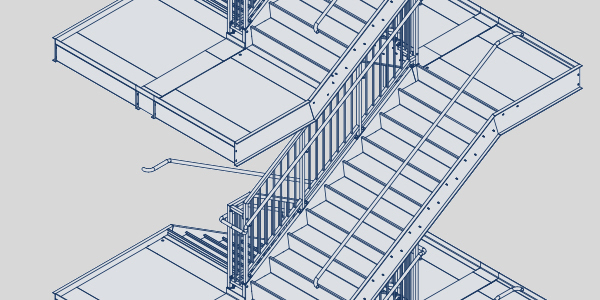 Egress stairs blueprint