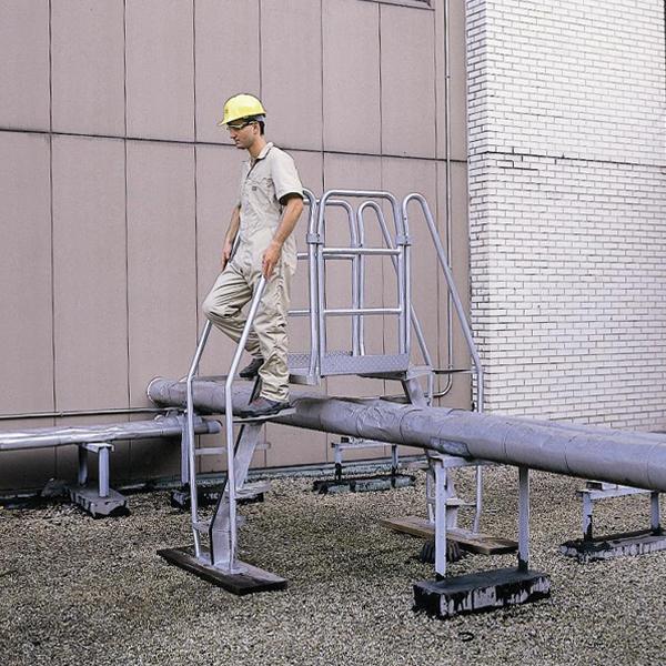 Aluminum alternating tread stairs