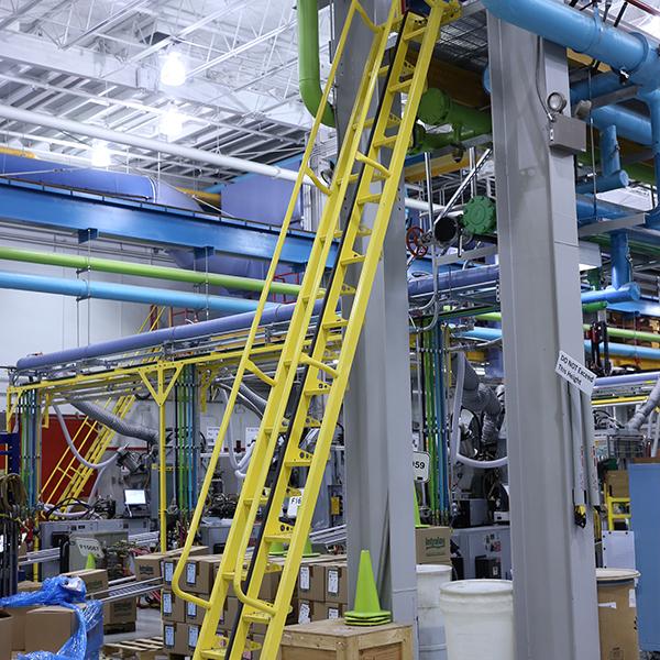 Carbon steel alternating tread stairs