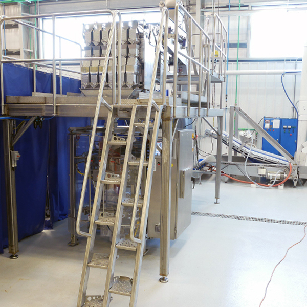 Stainless steel alternating tread stairs