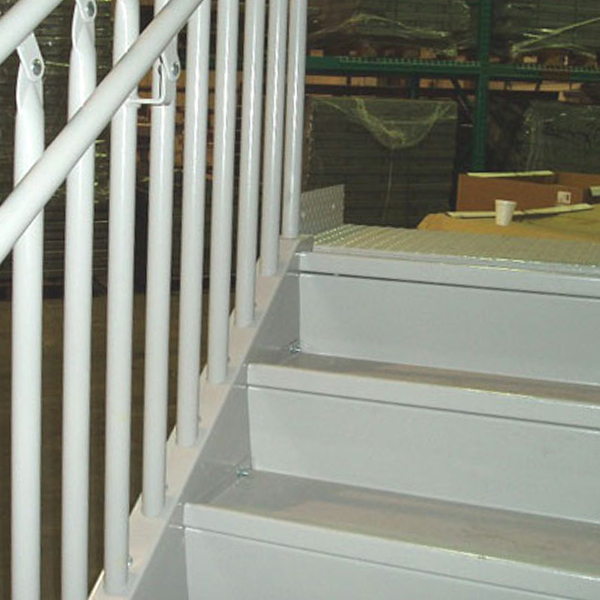 bolted metal stairs