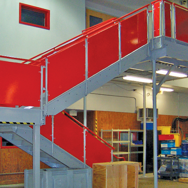bolted mezzanine stairs