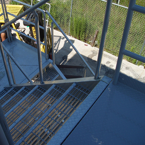 bolted access stairs