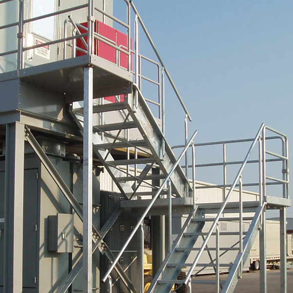 galvanized bolted access stairs