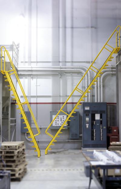 68° alternating tread stair versus 56° alternating tread stair