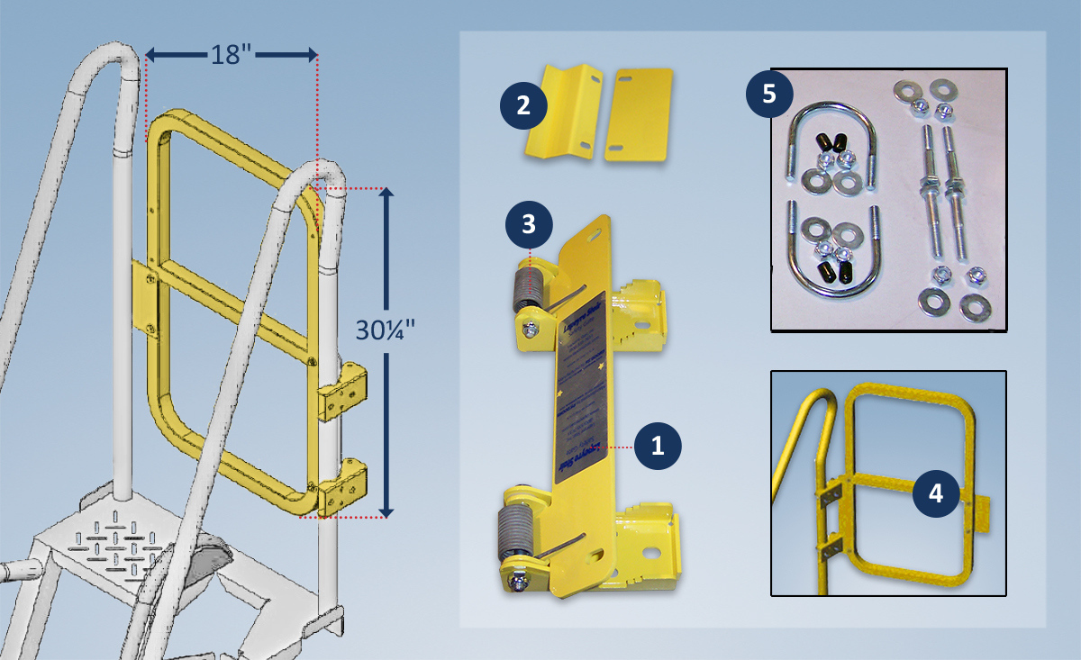 Safety Gates for Alternating Tread Stairs