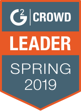 G2Crowd Leader Spring 2019 banner.
